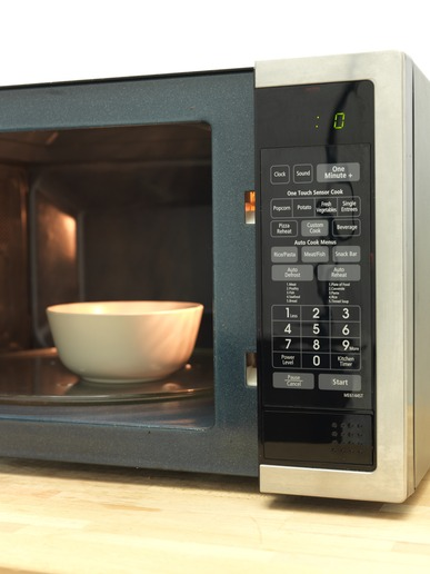 A shot of a kitchen microwave oven